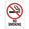 Approved Vendor 15J047 Sign, 10X7, No Smoking, Plastic