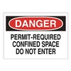 Approved Vendor 15J010 Sign, 10X14, Danger Permit Required, S.