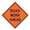 Usa-Sign 669-C/48-DGFO-RW 48in ROAD WORK AHEAD Diamond Grade