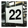 Stranco Inc HPS-2W1412-22 Projecting Aisle Sign, Legend 22