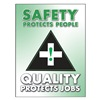 Accuform Signs PST116 Poster, Safety Protects People, 18 x 24