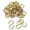 Brady 23304 S Hook, Brass, PK 100