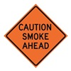 Usa-Sign 669-C/48-EMO-CA Traffic Sign, Caution Smoke Ahead, 48 In.