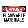 Approved Vendor 15H997 Sign, 10X14, Danger Flammable Materials, S.