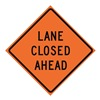 Usa-Sign 669-C/36-RVFO-LC 36in LANE CLOSED AHEAD  R34