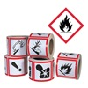 Ghs Safety GHS1261 Pictogram Label, Black/Red, Glossy Paper