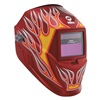 Miller Electric 256 168 Welding Helmet, Dig Pro-Hobby, Red/Flames