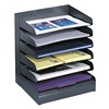 Safco 3128BL Letter Tray/File Holder, 6, Comp
