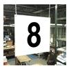 Stranco Inc HPS-FS1212-8 Hanging Aisle Sign, Legend 8