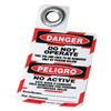Brady 105724 Danger Bilingual Tag, 3 x 2 In, Met, 3/8 In