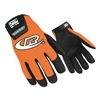 Ringers Gloves 136-10 Mechanics Gloves, Orange, L, PR