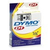 Dymo 41913 Tape, Black/White, 23 ft. L, 3/8 In. W