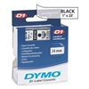 Dymo 53710 Clear Tape, Black/Clear, 23 ft. L, 1 In. W