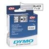 Dymo 53710 Clear Tape, Black/Clear, 23 ft. L, 1 In. W