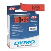 Dymo 45017 Red Tape, Black/Red, 23 ft. L, 1/2 In. W