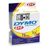 Dymo 45803 Tape, Black/White, 23 ft. L, 3/4 In. W