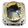 Hubbell Wiring Device-Kellems B2537 Floor Box, Brass Collar, Cast Iron