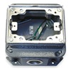 Hubbell Wiring Device-Kellems BA2436 Floor Box, 1-Gang Rectangular, Cast Iron
