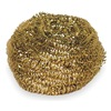 Tough Guy 2NTH8 Scrubber, Gold, 3In L, 3In W, PK6
