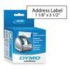 Dymo 30320 Address Label, Black/White, Paper