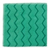 Rubbermaid FGQ62001GR00 Microfiber Cloth, Green, 16x16 In, PK 12