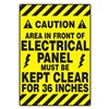 Accuform Signs PSR640 Floor Sign, Black/Yellow, 14 In. x 20 In