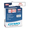Dymo 45805 Labels, White/Red, 23 ft. L, 3/4 In. W