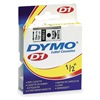 Dymo 45013 Tape, Black/White, 23 ft. L, 1/2 In. W