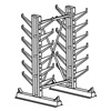 Jarke CR-7 Inclined Starter Cantilever Rack, 7 ft. H