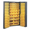 Edsal BC6200G Bin Storage Cabinet, H 72, W 38, 132 Bins