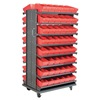 Akro-Mils APRD162RED Pick Rack, 2-Sided, 96 Red AkroDrawers
