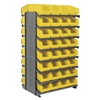 Akro-Mils APRD080Y Pick Rack, 2-Sided, 64 Yellow ShelfMax Bin