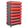 Akro-Mils APRD142RED Pick Rack, 2-Sided, 144 Red AkroDrawers
