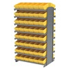 Akro-Mils APRD162YEL Pick Rack, 2-Sided, 96 Yellow AkroDrawers