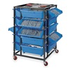 Lyon KK3491BWBB Bin Trolley System, w/20 Blue Tilt Bins