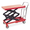 Dayton 3KR47 Scissor Lift Cart, 800 lb., Steel, Fixed