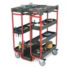 Rubbermaid FG9T5700BLA Ladder Cart, 500 lb. Cap
