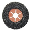 Westward 6NZ12 Arbor Mount Flap Disc, 7in, 16, ExtraCoarse