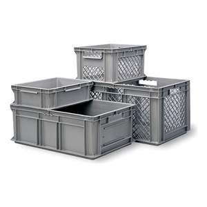 SCHAEFER Container, Plastic Gray at Sears.com