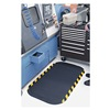 Andersen 04240020046100 Anti-Fatigue Mat, 46x69In, 7/8In, Blk/Yllw