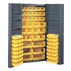 Edsal 1DZF6 Bin Storage Cabinet, 84 Bins, 6 Shelves