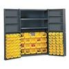 Edsal BC4804G Bin Storage Cabinet, 84 Bins, 8 Shelves