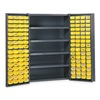 Edsal BC4803G Bin Storage Cabinet, 128 Bins, 4 Shelves