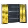 Edsal BC4803G Bin Storage Cabinet, 128 Bins, 4 Shelves