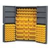Edsal 1DZG3 Bin Storage Cabinet, 112 Bins, 6 Shelves