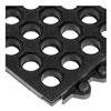 Wearwell 572.58X3X3CFRBK Modular Mat, Wet Area, 3 x 3, CFR Rubber