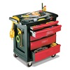 Rubbermaid FG773488BLA Trade Cart/Service Bench, 19-13/16 In. W