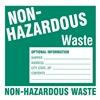 Brady 121159 Hazardous Waste Label, 6 In. H, PK 50