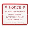 Approved Vendor SJS-1012 Sign, Stabilizing Jack