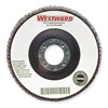 Westward 6NZ05 Arbor Mount Flap Disc, 7in, 80, Medium